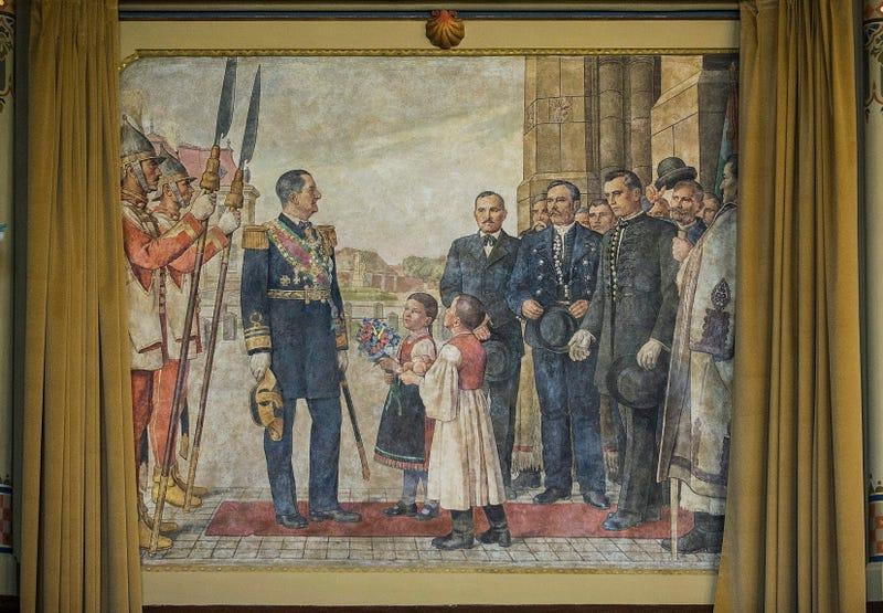 Illustration for article titled Itt az alkalom, hogy mutassak egy Horthy Miklóst ábrázoló festményt