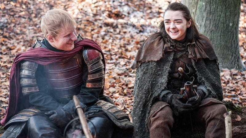 Illustration for article titled Ed Sheeran wishes his Game Of Thrones character had been killed, just to make you all happy