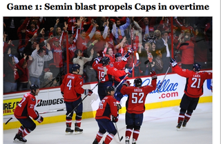 Illustration for article titled Semin Leads The Capitals To Sweet, Sweaty Extended-Time Victory