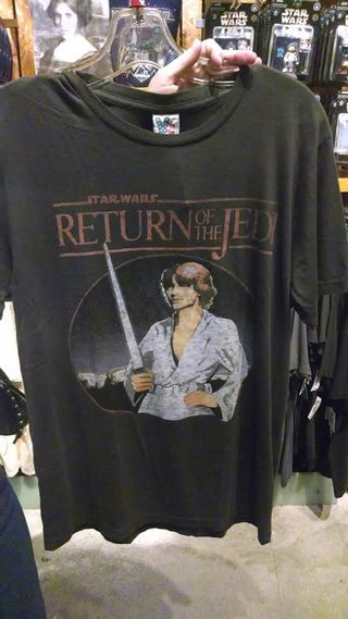 Illustration for article titled I found the worst Star Wars t-shirt ever.