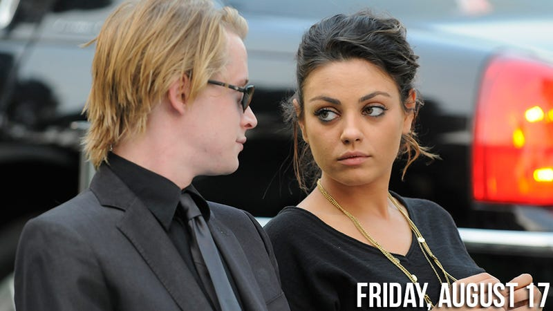 Illustration for article titled Mila Kunis Begs Macaulay Culkin to Go to Rehab from Ashton Kutcher Sex Boat