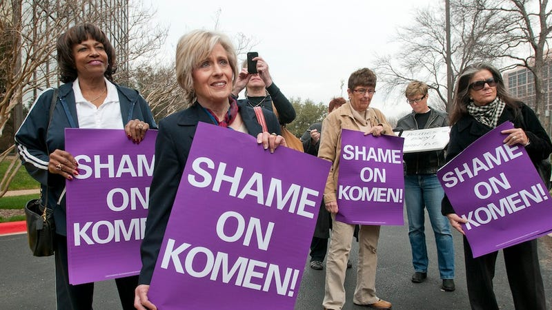 Illustration for article titled Komen Cancels Annual Gala to Avoid Inevitable Embarrassment