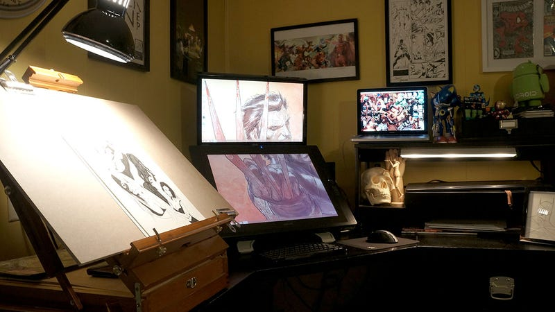 Illustration for article titled The Illustrator's Workspace