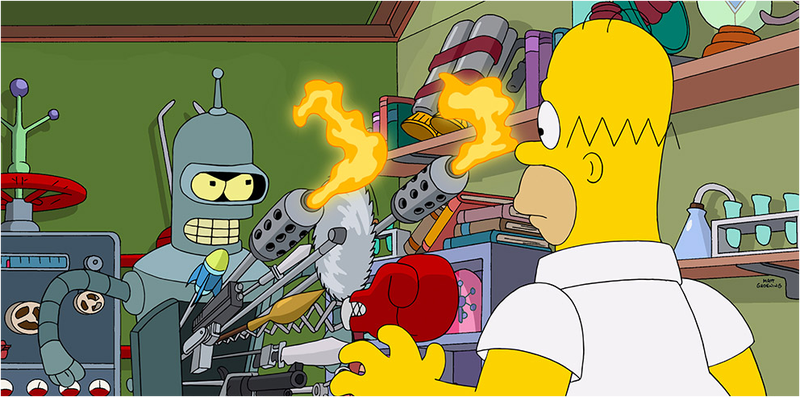 Illustration for article titled Un primer vistazo al crossover entre los Simpson y Futurama