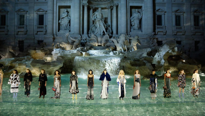 Illustration for article titled Fendi Staged One of the Prettiest Runway Shows You'll Ever See