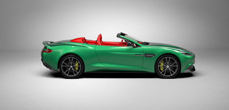 Illustration for article titled The Aston Martin Vanquish Volante configurator lets you do this!