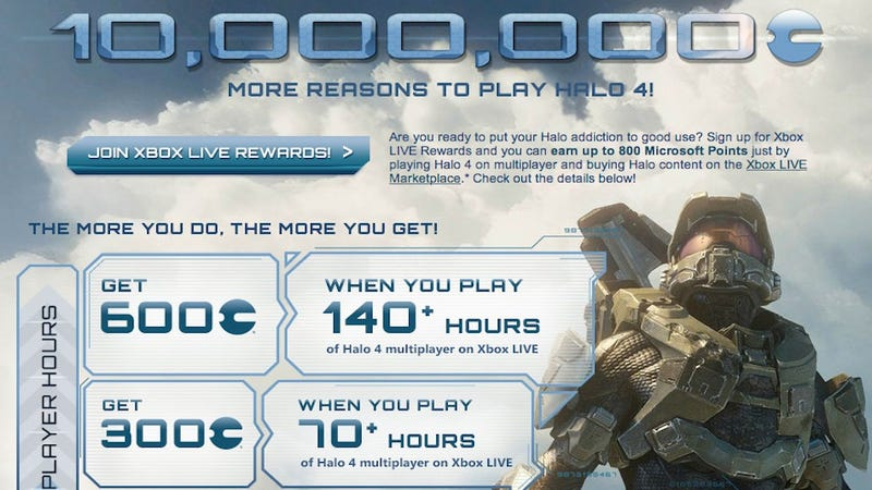 Illustration for article titled If You Play 140 Hours Of Halo 4 Multiplayer This Month, Microsoft Will Give You $7.50