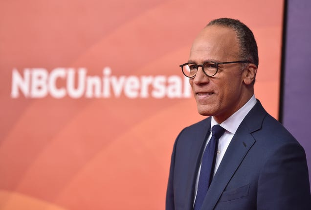 Newscaster Lester Holt attends NBCUniversal's Summer Press Day 2018 at the Universal Studios Backlot on May 2, 2018, in Universal City, Calif.