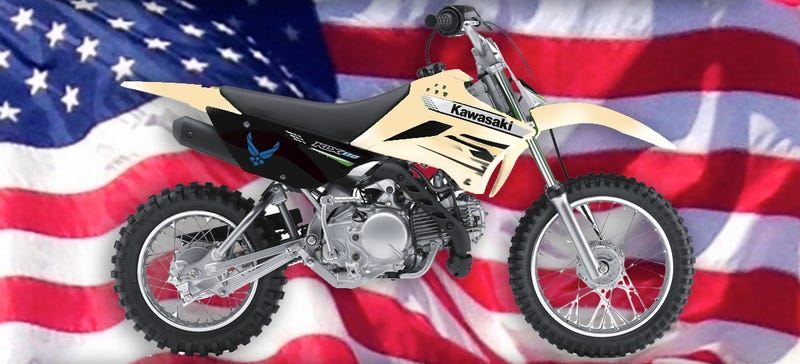 Illustration for article titled US Air Force Wants To Assemble A Badass Batalion Of Tiny Dirt Bikes