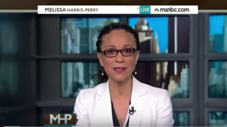 Former MSNBC host Melissa Harris-Perry on the set of her programYouTube screenshot