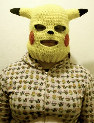 Illustration for article titled A Frightening Pikachu Ski Mask For *Cough* Skiing