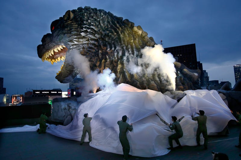 Illustration for article titled Giant Godzilla Head Warmly Welcomes You To Tokyo!