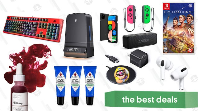 Monday s Best Deals: Apple AirPods Pro, Google Pixel 4a 5G, Switch Joy-Cons, TaoTronics Humidifiers, The Ordinary Peeling Solution, iPhone 12 MagSafe Charger, and More