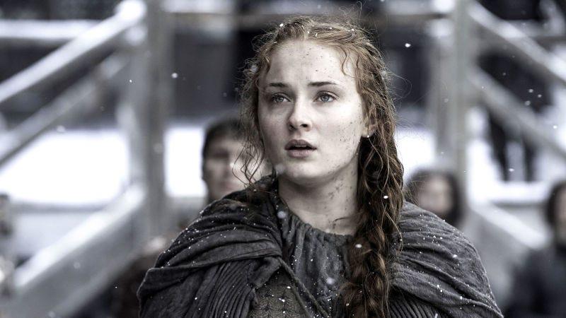 Sophie Turner haciendo de Sansa StarkImagen: HBO