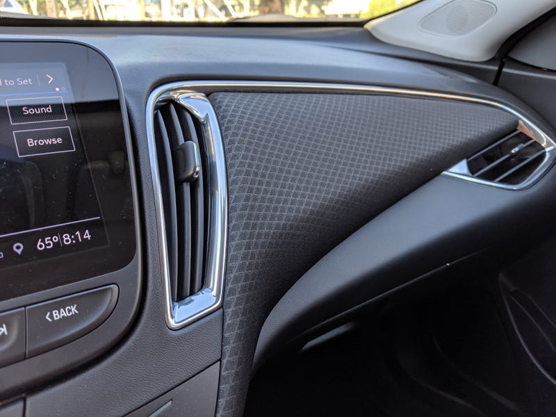The cloth dashboard treatment is my favourite thing about GM's passenger cars. Also, the climate blowers have unique shapes. Overall interior design is modern without falling into design cliches.