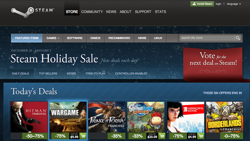 Illustration for article titled The Steam Holiday Sale Is Now Live