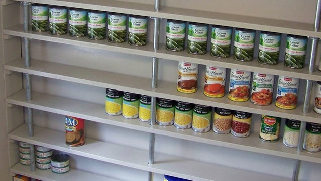 Build An Affordable Custom Pantry Shelving System With Pipes