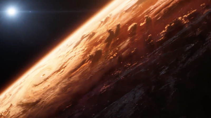The unnamed planet seen at the very beginning of the infinity War trailer.