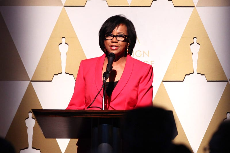 Cheryl Boone Isaacs, president of the Academy of Motion Picture Arts and Sciences, at an Oscars event honoring foreign films in Los Angeles on Feb. 20, 2015Tommaso Boddi/Getty Images