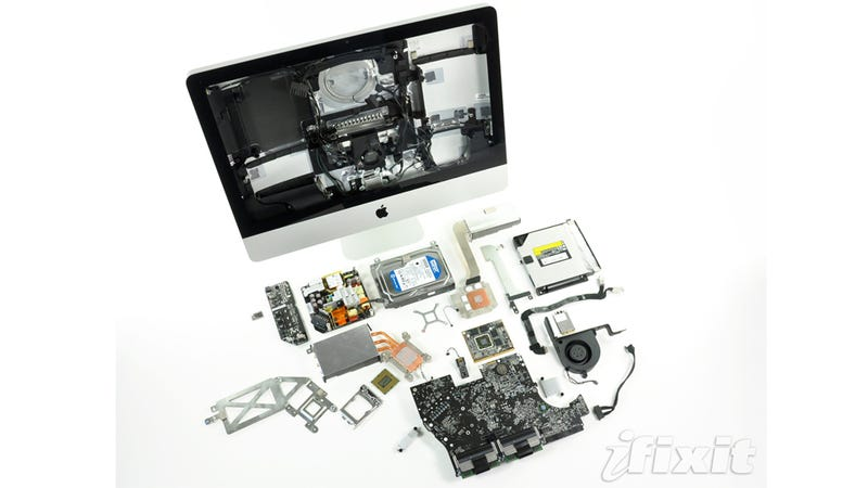Illustration for article titled Gory Photos of the iMac Teardown Reveal Little Has Changed