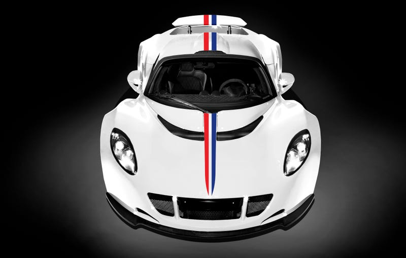 Illustration for article titled Hennessey Venom GT World's Fastest Edition: God Bless American Speed