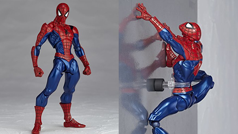 Illustration for article titled Ridiculously Poseable Spider-Man Figure Basically Does Whatever a Spider Can