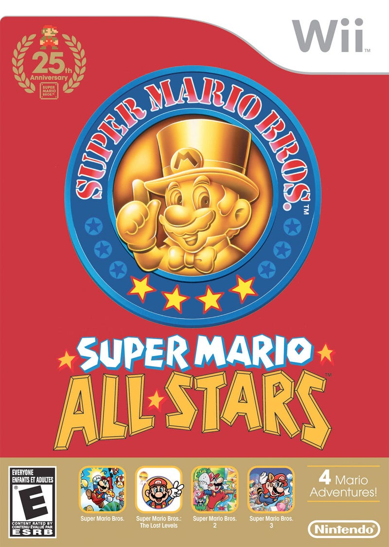 Illustration for article titled Super Mario Bros. All-Stars Packaging