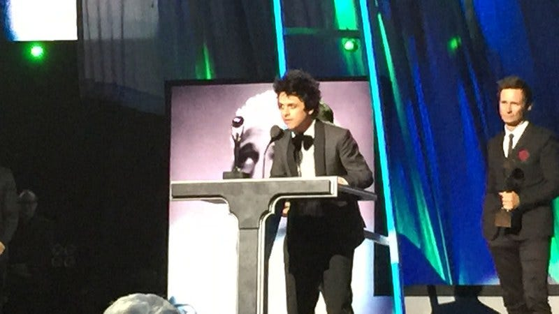 Green Day's Billie Joe Armstrong at the 2015 Ceremony