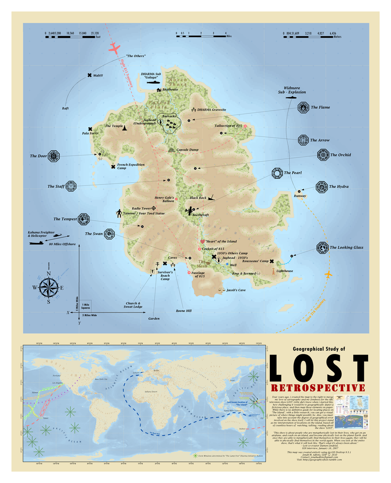Illustration for article titled Professional cartographer creates the best map of Lost's island yet