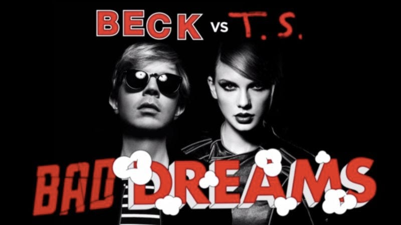 "Illustration for article titled ""Bad Dreams"" is the mashup of Taylor Swift and Beck no one ever asked for"