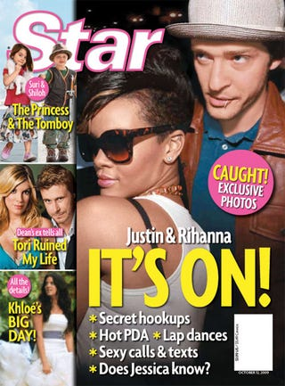 "Illustration for article titled This Week In Tabloids: Justin & Rihanna Plan Hookup; Kardashian Wedding ""World Exclusive"""