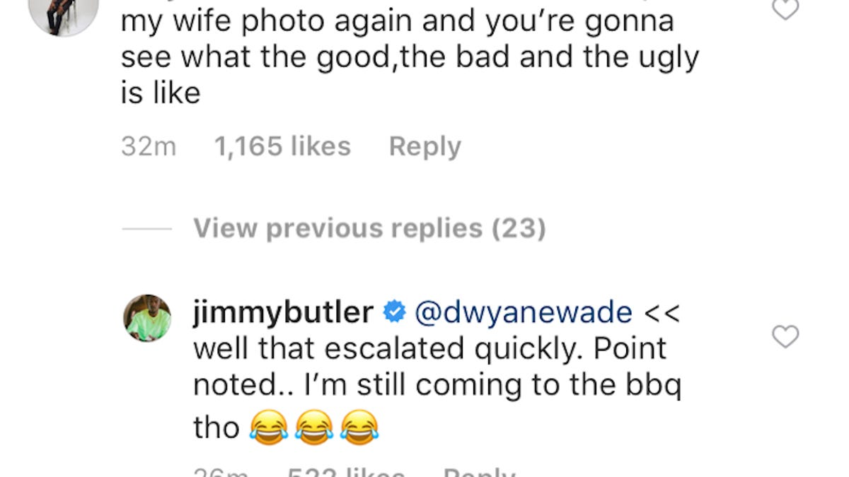 Dwyane Wade Asks Jimmy Butler To Kindly Wipe His Drool Off
