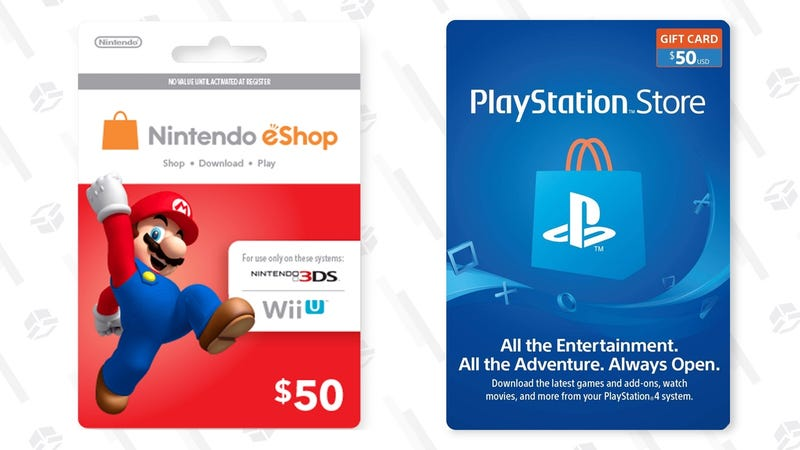 nintendo store gift card download a 50 nintendo or playstation gift card for just 7528