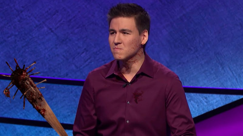 Illustration for article titled Unbeatable 'Jeopardy!' Champ Says Key To Success Is Threatening Other Contestants With Nail-Studded Baseball Bat During Commercials