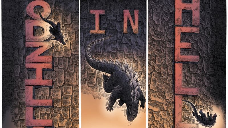 Illustration for article titled Exclusive IDW preview: New comics series sends Godzilla to hell