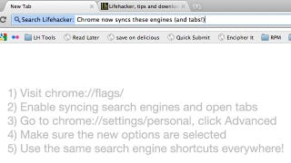 Illustration for article titled Chrome Now Syncs Search Engines and Open Tabs
