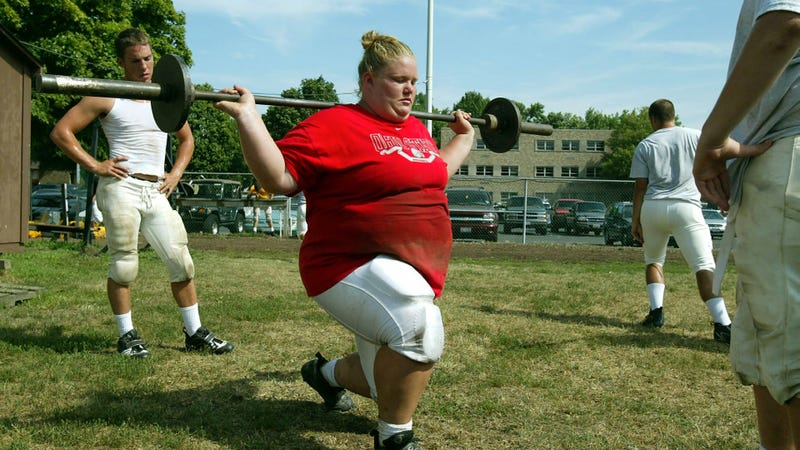 Illustration for article titled Nick Mangold's 5-8, 374-Pound Sister Makes US Olympic Weightlifting Team