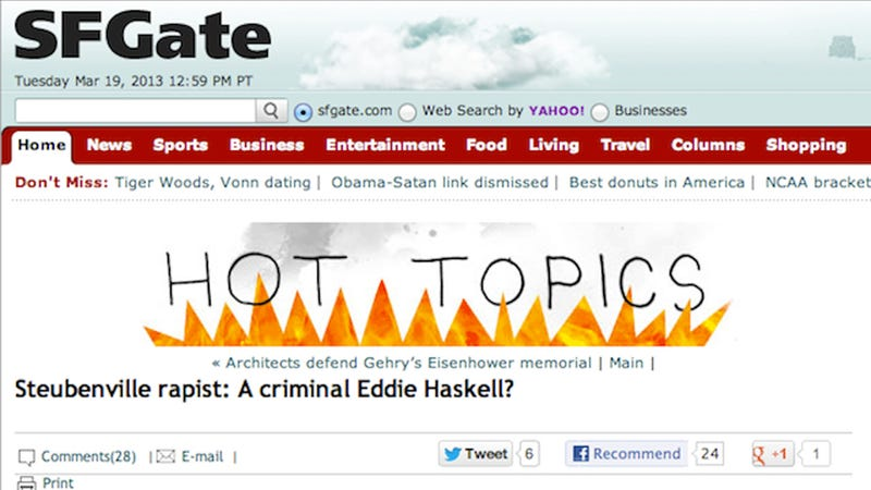 Illustration for article titled San Francisco Chronicle Compares Steubenville Rapists to Adorable Scamp Eddie Haskell