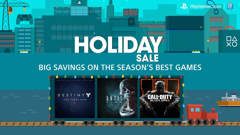 Illustration for article titled PlayStation Store Delivers On-Sale Games Digitally, No Sleigh Required