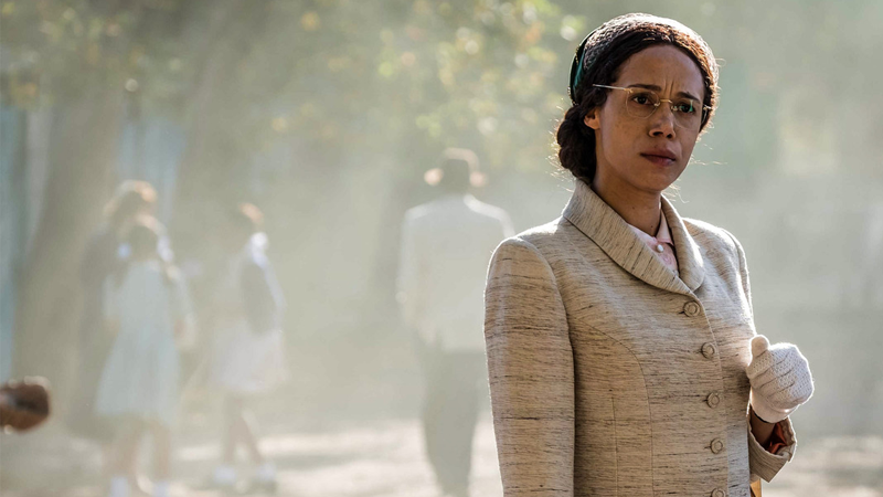 Vinette Robinson as Mrs. Rosa Parks in Doctor Who.