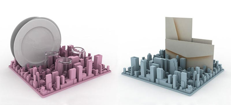 Illustration for article titled This Inception-Inspired Silicon Skyline Is a Delightful Dish Rack