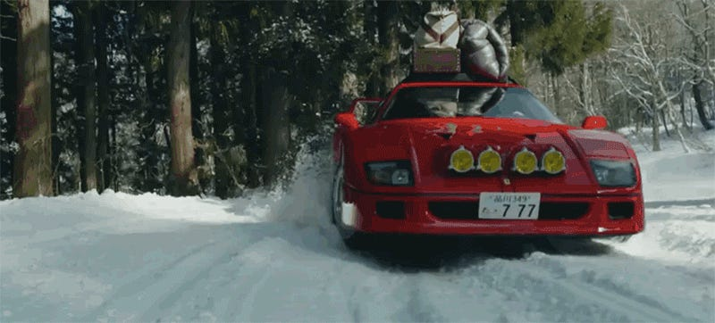 This Gorgeous Ferrari F40 Snow Rally Video Is What Dreams Are Made Of