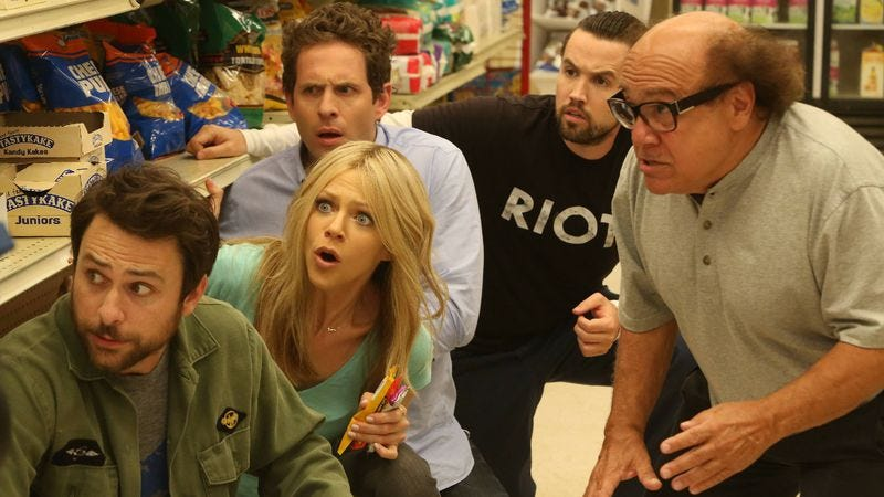 """Illustration for article titled It's Always Sunny In Philadelphia: """"The Gang Saves The Day"""""""