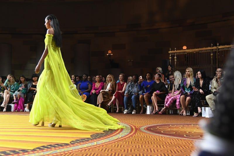 Danielle Brooks, Carmen Electra, Judith Light, Cynthia Nixon, Whoopi Goldberg, Tiffany Haddish, Sarah Hyland and Kim Petras attend Christian Siriano - Front Row during New York Fashion Week: The Shows on September 8, 2018 in New York City.