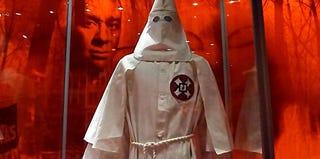 A Ku Klux Klan robe at a museum in Washington, D.C. (Karin Zeitvogel/AFP/Getty Images)