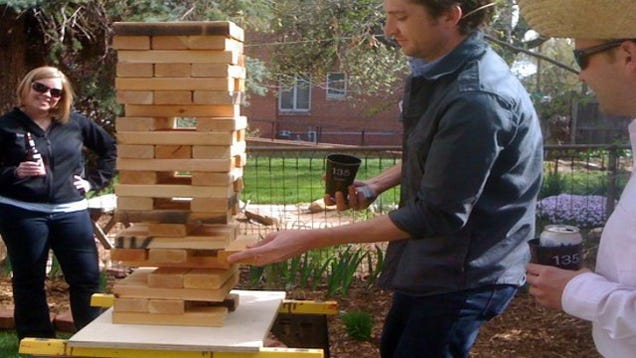 DIY Giant Jenga Is A Great Outdoor Game