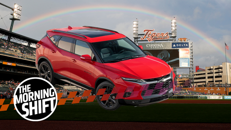 Illustration for article titled Mexico-Made Chevrolet Blazer Called 'Slap in the Face' at Detroit Ballpark
