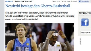 "Illustration for article titled German Newspaper Credits Dirk, ""First White MVP Since Larry Bird,"" With Defeating ""Ghetto Basketball"""