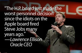 Illustration for article titled Oracle CEO Blasts HP Board For Ousting Mark Hurd