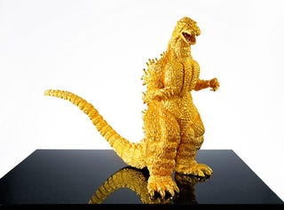 Illustration for article titled Solid Gold Godzilla Can Be Yours for Only $1.5 Million
